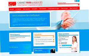 DL Net Interactive, agence web à Compiègne, a développé le site Cabinet Pain & Associés
