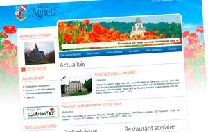 DL Net Interactive, agence web à Compiègne, a développé le site Mairie d' Agnetz