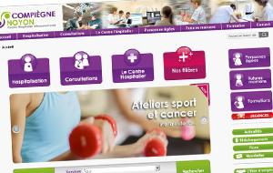 DL Net Interactive, agence web à Compiègne, a développé le site Centre Hospitalier Compiègne-Noyon