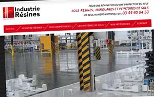 DL Net Interactive, agence web à Compiègne, a développé le site Industrie Résines