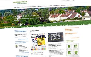 DL Net Interactive, agence web à Compiègne, a développé le site Mairie d'Estrées-Saint-Denis